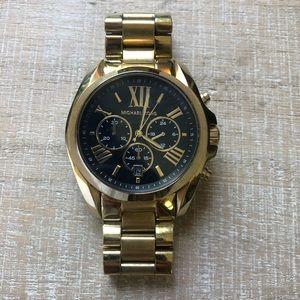 Michael Kors Black Face Goldtone Women's Watch